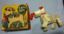 Vintage Alps Playful Puppy Dog windup toy with original box