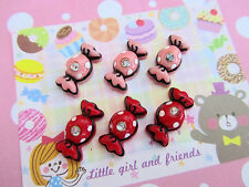 20 Pink & Red Resin Candy Rhinestone Flatback Craft Button/Clay Design/Decor B13