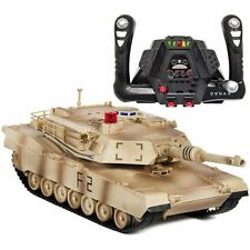 1/14 Scale RC Military Tank Radio Remote Control Car- Yellow Camouflage Sturdy