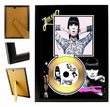 JESSIE J  - A4 SIGNED FRAMED GOLD VINYL COLLECTORS CD DISPLAY PICTURE