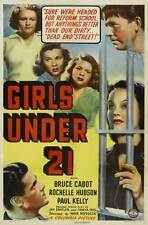 GIRLS UNDER 21 Movie POSTER 27x40 Bruce Cabot Rochelle Hudson Paul Kelly Tina