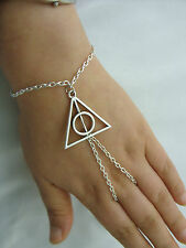 HARRY POTTER I doni della morte e mano Harness Bracciale, Anello ARMOUR, catena schiavo