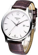 Tissot T0636101603700 Tradition Silver Dial Date Swiss Men's Brown Leather Watch