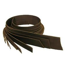 "Buffalo Veg Tan Belt Blank Leather Strip 3/4"" Dark Brown"