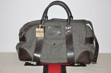 Ralph Lauren RRL Herringbone Wool Tweed & Leather Duffle Weekender Bag