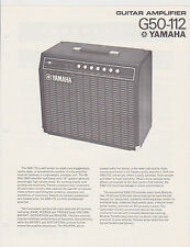 1970s AD SHEET #2774 - YAMAHA G50-112  GUITAR AMPLIFIER