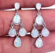 Amazing Fire Opal     earrings  925 silver