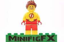 Lego KID FLASH Custom Minifig DC Super Hero Wally West Bart Allen Young Justice