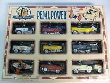 Golden Wheel Pedal Power 9 Die Cast Cars 1:10
