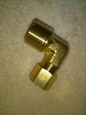 5/16ths by 3/8 NPT Compression Fitting 90 degree Elbow New Fuel Line Marine