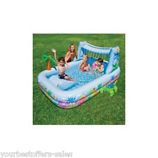 Intex Kids Swimming Pool Waterfall Inflatable Kids Pool Outdoor Water Toys New
