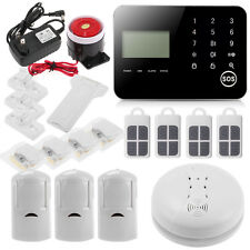 IOS/Android APP GSM SMS Wireless DIY Home Security Alarm Smoke Burglar System