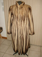 VINTAGE NICE CONDITION NATURAL FITCH FUR FULL LENGTH COAT SIZE MEDIUM LARGE