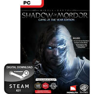 SHADOW OF MORDOR GAME OF THE YEAR EDITION GOTY PC, MAC AND LINUX STEAM KEY