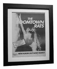 BOOMTOWN RATS+LP+After No 1+POSTER+AD+RARE+ORIGINAL 1977+FRAMED+FAST GLOBAL SHIP