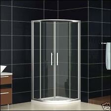 900x900mm Quadrant Shower Enclosure Corner Cubicle Glass And Tray+Hidden Waste