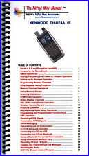 Kenwood TH-D74A Nifty! Mini-Manual Quick Reference Guide