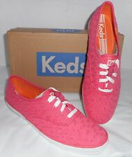 NWB $45 KED'S WOMENS CH/EYELET LACE UP CORAL FASHION SNEAKERS SIZE 8