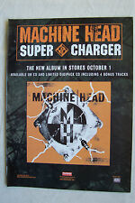 MACHINE HEAD - Supercharger - 2001 Magazine Advertisment Poster