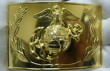 "US MARINE CORPS DRESS BUCKLE ANODIZED EMBLEM AND WREATH 2"" x 3"" VANGUARD NEW"