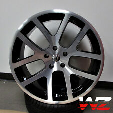 "22"" Viper Style Wheels Machined Black Fits Dodge Ram 1500 5x139.7 Truck Durango"