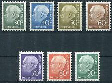 Bund 259 - 265 postfrisch BRD Heuss II Satz komplett 1956 MNH