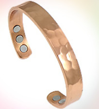6 Powerful magnets Copper Bracelet Arthritis Golf Sport Aches Healing Hammered