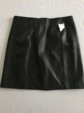NWT Margaret Godfrey Size 12 Black Leather Skirt