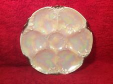 Antique German Porcelain Lusterware Oyster Plate c.1884-1933, op307