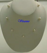 Collier simple fil nylon beige ( ivoir). Bijoux de mariage.