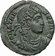 CONSTANS son of Constantine I the Great Ancient  Roman Coin Two Victories i27386