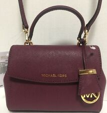 NEW Michael Kors XS Ava Top Handle Plum Saffiano Leather Satchel Handbag