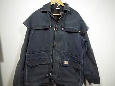 RARE! Vintage Carhartt Cape Coat Duster Ranch Jacket Men's Medium Western Gray