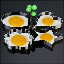 4XThick Stainless Steel Cute New Omelette Mold Control Rice Omelette Mold Love 1