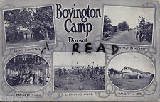 Tinted Multi View showing scenes of Bovington Camp Dorset 1918