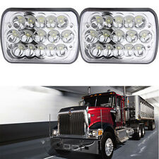Pair CREE LED Headlights For International 9200 9400 series Mack Kenworth Ford