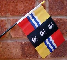 """BEDFORDSHIRE SMALL HAND WAVING FLAG 6""""X4"""" flags"""