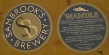 Sambrook's Wandle beer mat/coaster, new