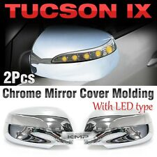Chrome Mirror Cover  Molding Trim LED Type B661 For HYUNDAI 2010-2013 Tucson ix