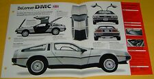 1981 1982 Delorean De Lorean DMC V6 BKJFI 2849cc IMP Info/Specs/photo 15x9