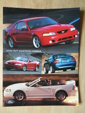 FORD MUSTANG COBRA 2000 brochure prospekt catalogue - Inc Convertible - SVT
