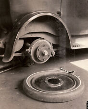 vintage industrial photo Budd Mfg.Co. Philadelphia, PA. flat tire U.S.Tire Royal
