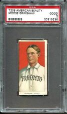1909-11 T206 American Beauty Moose Grimshaw PSA 2 ONLY 7 Total Graded Toronto