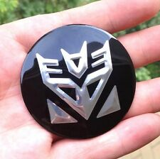 "4x 56mm 2.2"" Auto Car Wheel Center Cap Emblem Badge for Transformers Decepticon"