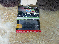 10 EXORI TROUT PROJECT GUMMI KUGELN PERLEN 8mm KNOTENSCHONER SOFT SHOCK BEADS