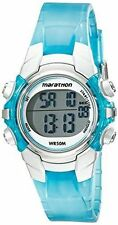 Timex T5K817, Women's Marathon Blue Resin Watch, Indiglo, Alarm, T5K817M6