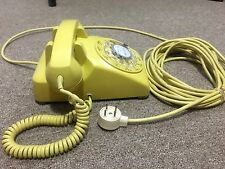 Rotary Phone Western Electric Desk Model C/D 500 Light Yellow 1957/1958