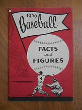 Old Vintage 1956 Baseball Facts and Figures Booklet MLB Sports Collectible Gift