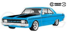 Chrysler Valiant VG Pacer Hemi 2Door - Blue with Momos