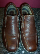 BROWN LEATHER LOAFERS BY DOCKERS SIZE 13M IN EXCELLENT CONDITION